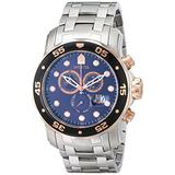 Invicta Men's 80038 Pro Diver Chronograph Blue Dial Stainless Steel Watch