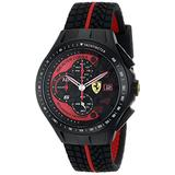 Ferrari Men's 0830077 Race Day Chronograph Black Rubber Strap Watch