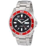 Precimax Men's PX13220 Aqua Classic Automatic Black Dial Silver Stainless-Steel Band Watch