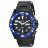 Precimax Men's PX13225 Aqua Classic Automatic Black Dial Black Stainless-Steel Band Watch