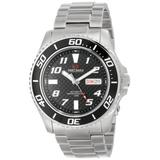 Precimax Men's PX13221 Aqua Classic Automatic Black Dial Silver Stainless-Steel Band Watch
