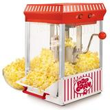 Nostalgia 2.5-Ounce Tabletop Kettle Popcorn Maker, Makes 10 Cups of Popcorn, w/ Kernel Measuring Cup, Oil Measuring Spoon & Scoop, Perfect for Bir