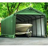 ShelterLogic ShelterTUBE Storage Shelter, Green, 12 x 30 x 11 ft.