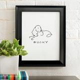 Personalized Dog Line Drawing Artwork - Yorkie - Grandin Road