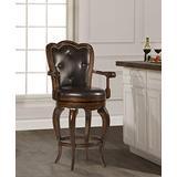 Hillsdale Furniture Eastwind Swivel Bar Stool, Dark Cherry