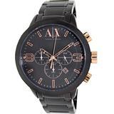 Armani Exchange Atlc Chronograph Black Dial Black Ion-Plated Mens Watch AX1350
