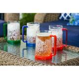 Cypress Home 4-Piece 16 oz. Plastic Beer Mug Set Plastic in Blue/Green/Red | Wayfair 3ABR001