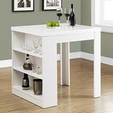 """Monarch Specialties I 32""""X 36"""" / White Counter Height DINING TABLE,"""