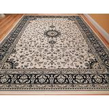 New Cream 5x8 Rug Ivory Black Persian Tabriz Design 6x8 Rug Traditional Rugs for Living Room 5x7 Bedroom Rugs