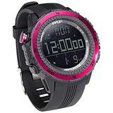 Digital Multifunction Sports Wrist Watch - Smart Fit Classic Men Women Sport Running Training Fitness Gear Tracker w/ Altimeter, Barometer, Compass, Timer, Weather Forecast - Pyle PSWWM82PN (Pink)