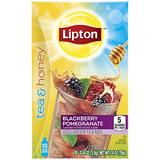 Lipton Tea and Honey Iced Green Tea To Go Packets, Blackberry Pomegranate 10 ct, Pack of 6