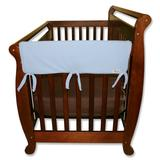 """""""Trend Lab 2-pk. Solid Convertible Crib Side Rail Covers, Blue, 27"""""""""""""""