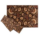 KHL Rugs Transitional Floral Paisley 3-pc. Rug Set, Brown