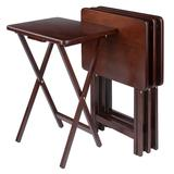 Winsome 4-Pc. TV Tray Table Set, Brown, Furniture