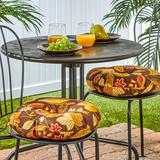 """""""Greendale Home Fashions Solid 2-pk. Outdoor Round Chair Cushions - 15"""""""", Brown, 15"""""""" ROUND"""""""