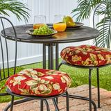 """""""Greendale Home Fashions Solid 2-pk. Outdoor Round Chair Cushions - 15"""""""", Red, 15"""""""" ROUND"""""""