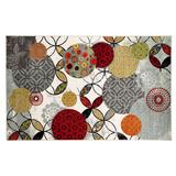 Mohawk Home Give & Take Abstract Indoor Outdoor Rug, Grey, 5X8 Ft