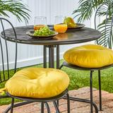 """""""Greendale Home Fashions Solid 2-pk. Outdoor Round Chair Cushions - 15"""""""", Yellow, 15"""""""" ROUND"""""""
