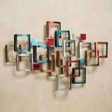 Retro Modo Metal Wall Sculpture Multi Jewel , Multi Jewel