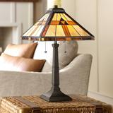 Quoizel Bryant Tiffany-Style Architectural Table Lamp