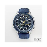 Citizen Blue Angels World Chronograph A-T Blue Ion Plated Stainless Steel Mens Watch - AT8020-03L