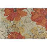 Momeni Summit Floral Outlines Rug, Beig/Green, 5X7.5 Ft