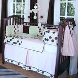 Brandee Danielle Minky Dot 4 Piece Crib Bedding Set Cotton Blend in Pink | Wayfair 1904PMPC