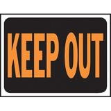 Hy-Ko Keep Out Sign Plastic in Orange, Size 0.02 H x 12.0 W x 9.0 D in   Wayfair 3010
