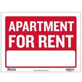 BAZIC Products Apartment For Rent Sign in Red, Size 1.0 H x 9.0 W x 12.0 D in | Wayfair S-5