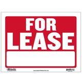 BAZIC Products For Lease Sign in Red, Size 1.0 H x 9.0 W x 12.0 D in | Wayfair S-9