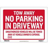 BAZIC Products Tow Away Sign in Red, Size 1.0 H x 9.0 W x 12.0 D in | Wayfair S-42