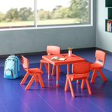 Flash Furniture Square Activity Table Plastic/Metal, Size 23.75 H x 24.0 D in   Wayfair YU-YCX-0023-2-SQR-TBL-RED-E-GG