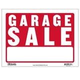 BAZIC Products Garage Sale Sign in Red, Size 7.0 H x 10.0 W x 13.0 D in | Wayfair S-3