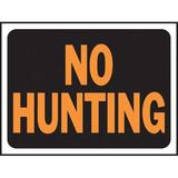 Hy-Ko No Hunting Sign Plastic in Orange, Size 0.02 H x 12.0 W x 9.0 D in   Wayfair 3021
