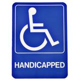 Hy-Ko Handicapped Deco Sign Plastic in Blue, Size 0.08 H x 6.0 W x 10.0 D in   Wayfair D-17