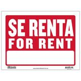 BAZIC Products Se Renta Sign in Red, Size 1.0 H x 9.0 W x 12.0 D in | Wayfair S-46