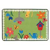 Carpets for Kids KID Value Rugs Tufted Green/Blue Area Rug Nylon in White/Brown, Size 36.0 W x 0.31 D in | Wayfair 36.67