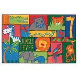 Carpets for Kids KID Value Rugs Tufted Area Rug Nylon in Blue/Green/Pink, Size 48.0 W x 0.25 D in | Wayfair 48.33