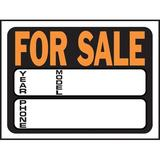 Hy-Ko For Sale Auto Sign Plastic in Orange, Size 0.02 H x 12.0 W x 9.0 D in   Wayfair 3031