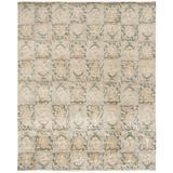 Martha Stewart Rugs Martha Stewart Reflection Geometric Hand Knotted Wool/Silk Beige/Green Area Rug Silk/Wool in Brown/Green/White | Wayfair