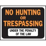 Hy-Ko No Hunting or Trespassing Sign Plastic in Orange, Size 0.2 H x 12.0 W x 9.0 D in   Wayfair 3011