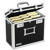 Vaultz® Locking File Tote Storage Box Aluminum in Black/Gray, Size 12.25 H x 13.75 W x 7.25 D in | Wayfair IDEVZ01187