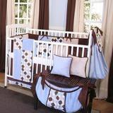 Brandee Danielle Minky Dot 4 Piece Crib Bedding Set Cotton Blend in Blue | Wayfair 1934PMBC
