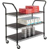 Safco Products Company Wire Utility CartMetal in Black, Size 40.5 H x 43.75 W x 19.75 D in   Wayfair 5338BL