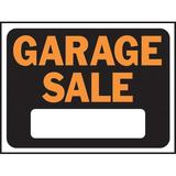 Hy-Ko Garage Sale Sign Plastic in Orange, Size 0.02 H x 12.0 W x 9.0 D in   Wayfair 3023