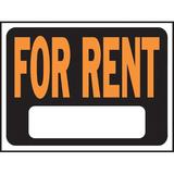 Hy-Ko For Rent Sign Plastic in Orange, Size 0.02 H x 12.0 W x 9.0 D in | Wayfair 3005