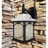 Special Lite Products Sonoma 1-Light Outdoor Wall lantern Glass/Metal in Brown, Size 19.375 H x 10.0 W x 10.0 D in | Wayfair F-3751CP