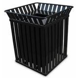 Witt Oakley Receptacle 36 Gallon Trash Can Stainless Steel in Gray, Size 32.75 H x 28.0 W x 28.0 D in   Wayfair M3601-SQ-FT-SLV