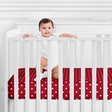 Sweet Jojo Designs Little Ladybug Fitted Crib Sheet Polyester in Red/White, Size 8.0 H x 28.0 W x 58.0 D in | Wayfair CribSheet-LittleLadybug-DOT