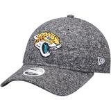 Women's New Era Heathered Black Jacksonville Jaguars Total Terry 9TWENTY Adjustable Hat